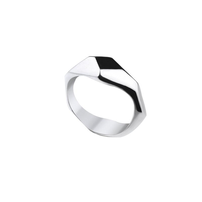 Mariage - Silver Unisex Wedding Ring , Handmade ring for men and women , Jewelry gift , RS-1036