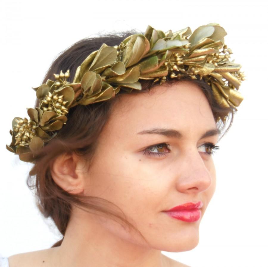Gold Leaf Crown, Minimal Leaf Crown, Unisex, Greek Goddess ...