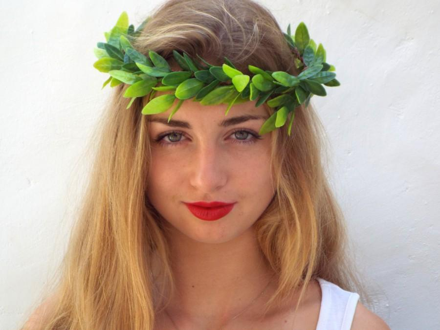 Olive Leaf Crown Green Woodland Headpiece Greek Goddess