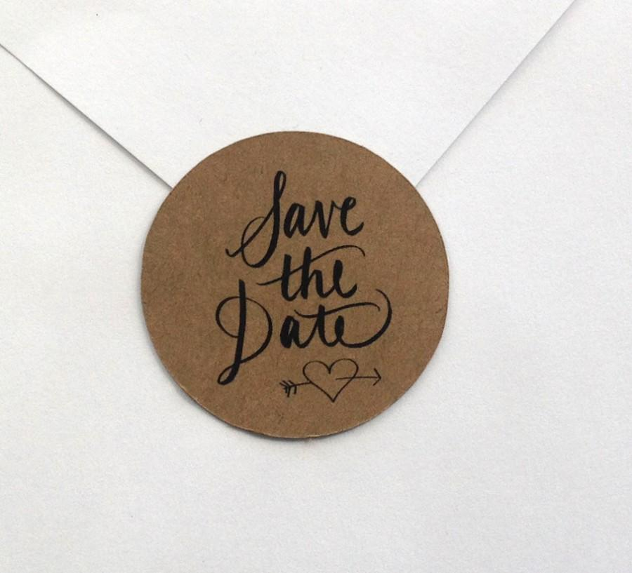 Hochzeit - Save the Date STICKERS for sealing envelopes set of 12