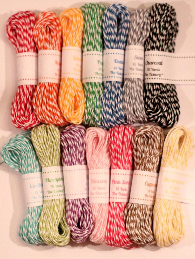 Hochzeit - Bakers Twine Decorating Packs for Favors, Gifts, Scrapbooking, Choose Your Colors -  (2) 15 yd. packs - total (30) yards