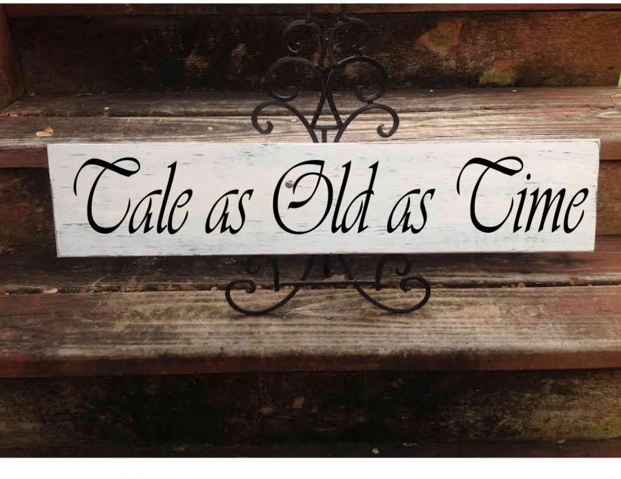 Свадьба - Tale as Old as Time, Disney Wedding Sign,  Wedding Sign, Wedding Decor, Disney Wedding, Beauty & the Beast, Disney Wedding Decor