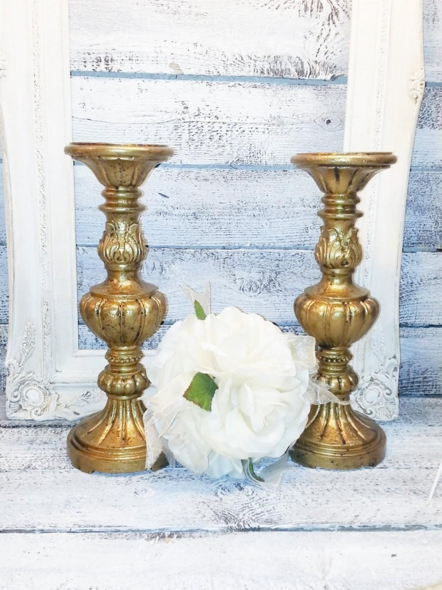 12 wedding candle holder pillar antique gold fireplace candle holder