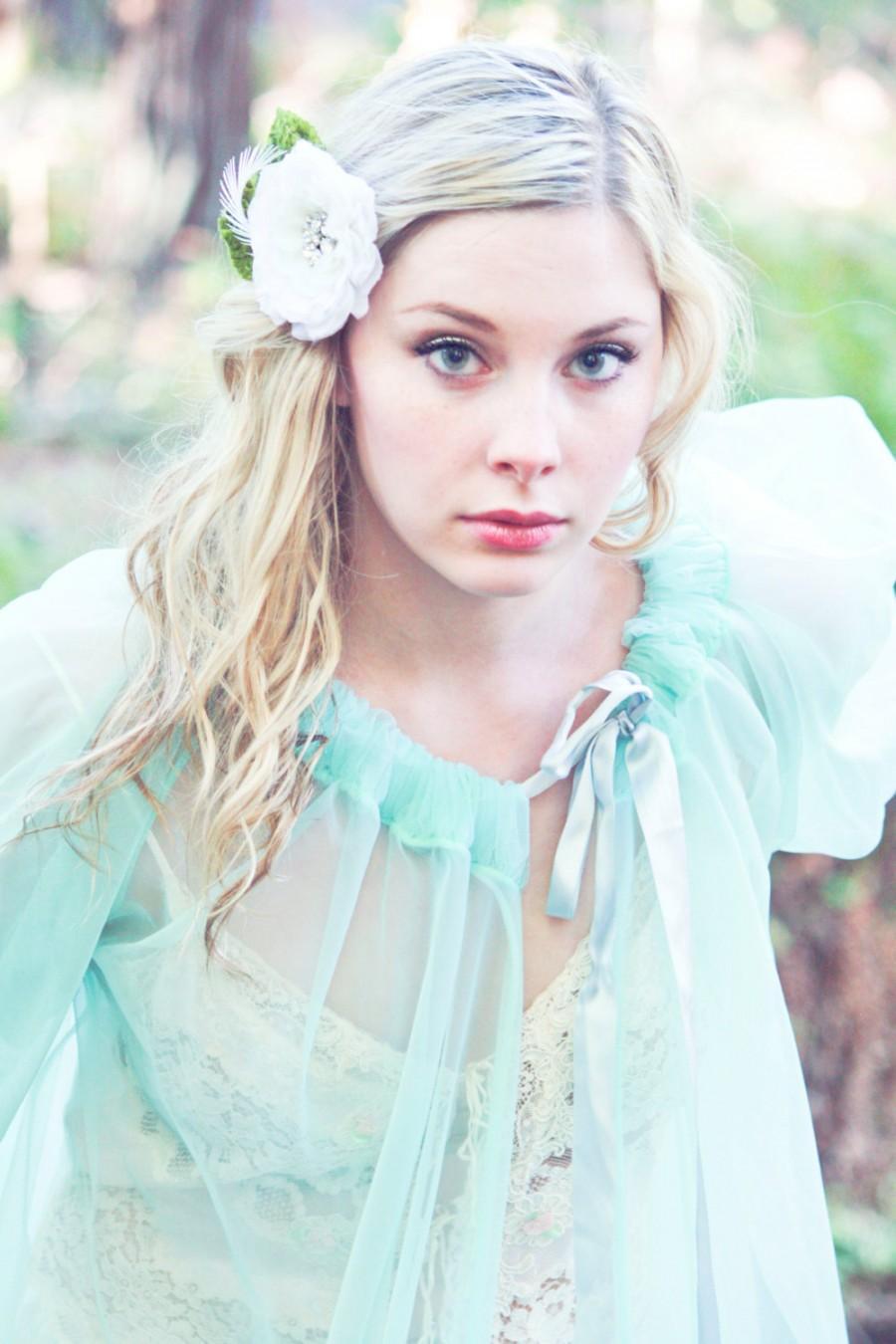 زفاف - Bridal Flower, Fascinator, Hair Clip, Wedding Flower, bridal hair clip