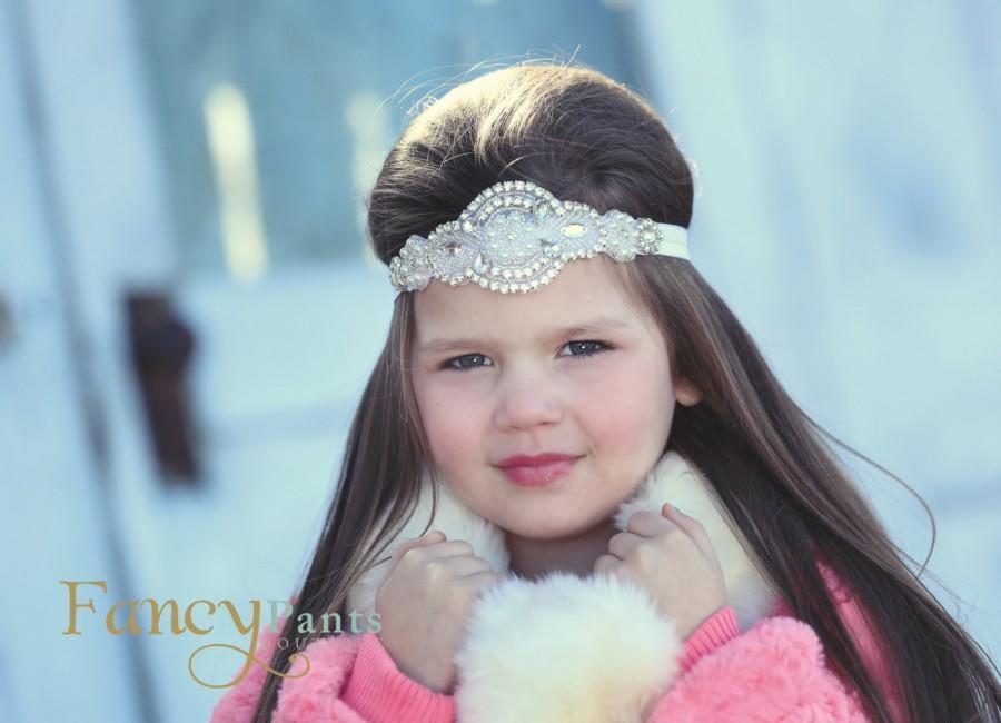 Mariage - Rhinestone Headband, Flower Girl Headband, Crystal Headband, Bridal Headband, Bling Headband, Wedding Headband