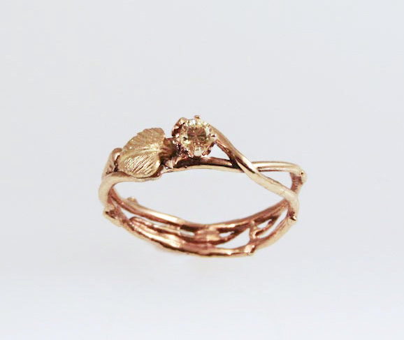 Mariage - Sun-kissed Eco Engagement Ring - in 14K Gold