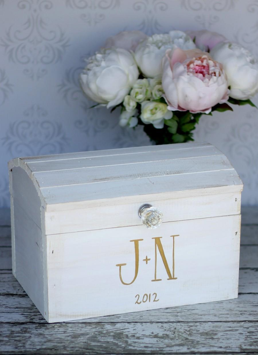 Свадьба - Wedding Card Box Vintage Shabby Chic Wedding Decor (item P10574)