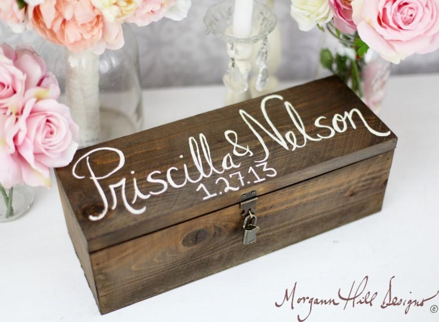 Hochzeit - Personalized Wine Box Custom Keepsake Time Capsule Wedding Gift (Item Number 140168)