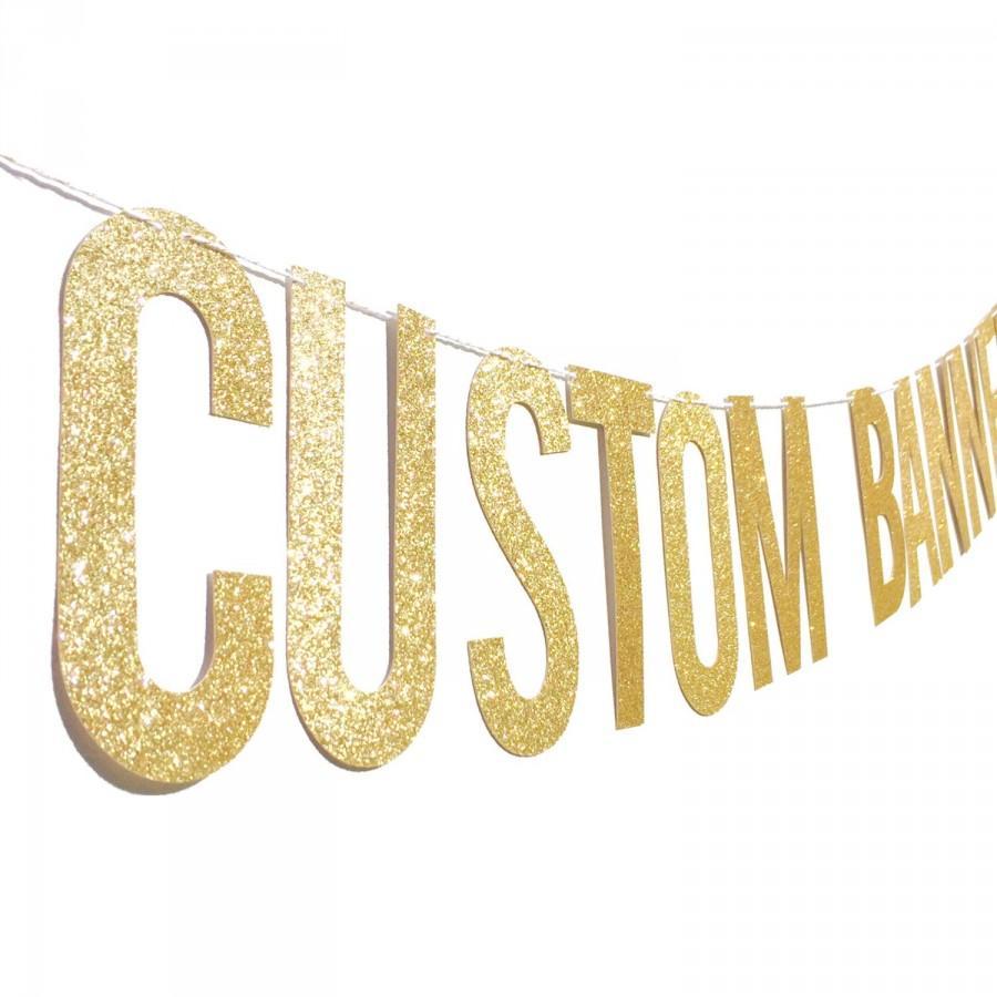 "Mariage - Custom Banner // 5.5"" PRE-STRUNG Bachelorette Party Banner // Wedding Hashtag Banner // Engagement Party Decor"