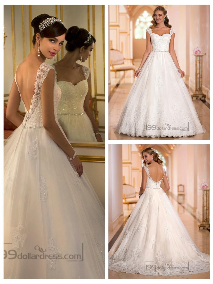 Straps Sweetheart Lace Princess Ball Gown Wedding Dresses #2453827 ...