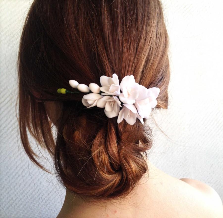 Свадьба - Floral hair piece, wedding hair flowers, hair flowers for wedding, wedding flower hair, flower for wedding, hair, flower hair piece