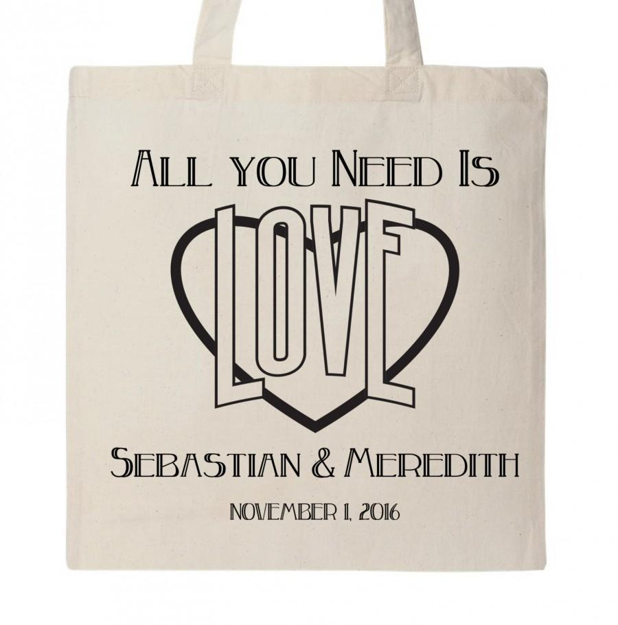 Mariage - Personalized tote bags and cards. Perfect for weddings or any lovely event. (24 totes and matching cards)