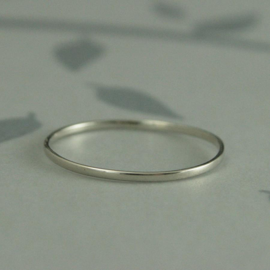 Thin White Gold Band 10k Petite Gold Wedding Band Plain Jane Super