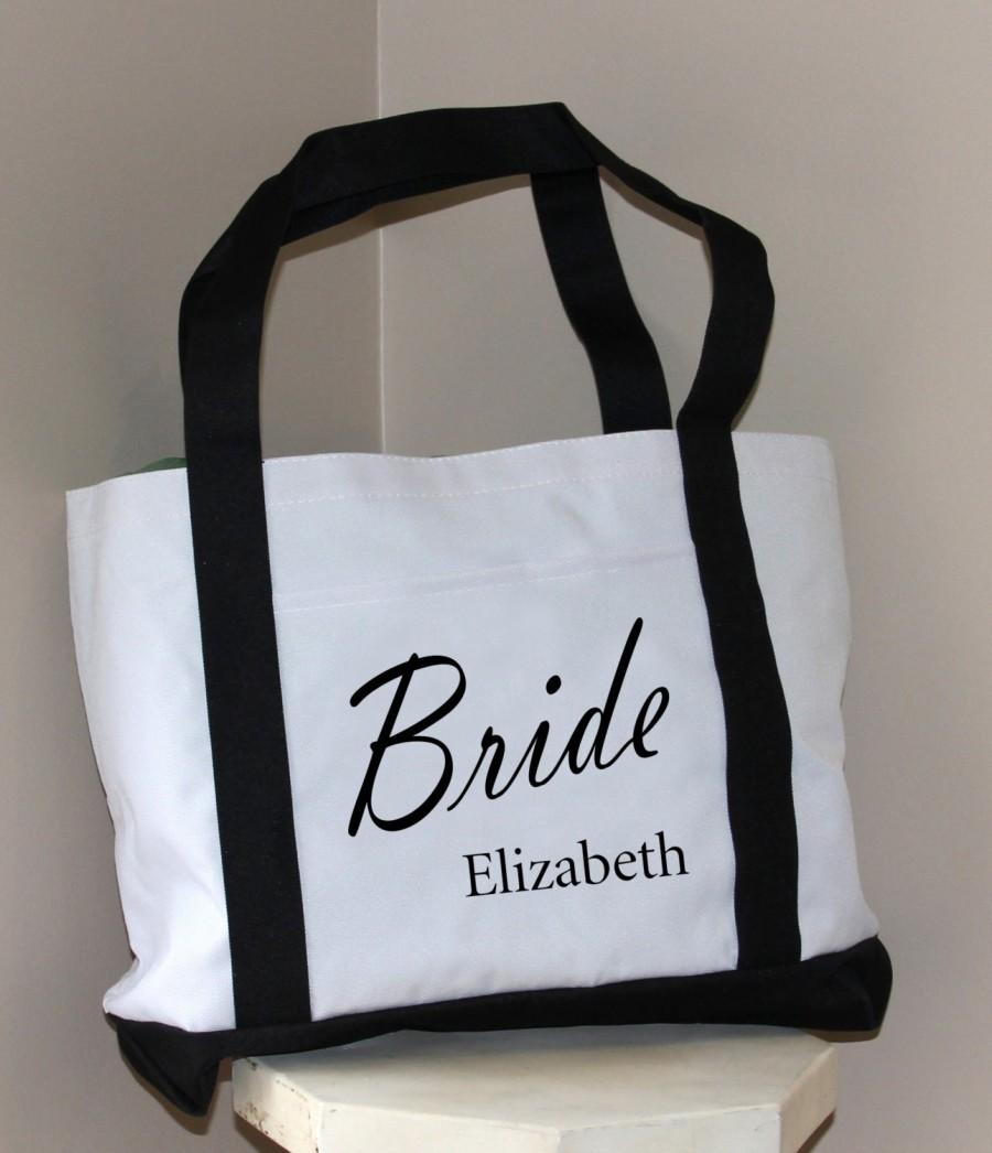 Bride Bag: Tote Bag With Name, Bridal Shower Gift, Bachelorette ...