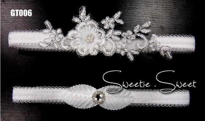 Свадьба - Wedding Garter, Bridal Garter, Garter Set, Flower Garter, Lace Garter, Wedding Keepsake, Toss Garter, Rhinestone Garter  GT006-set
