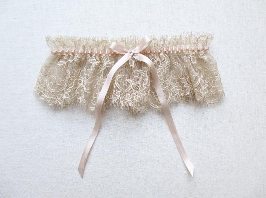 Свадьба - Antiquity lace silk garter