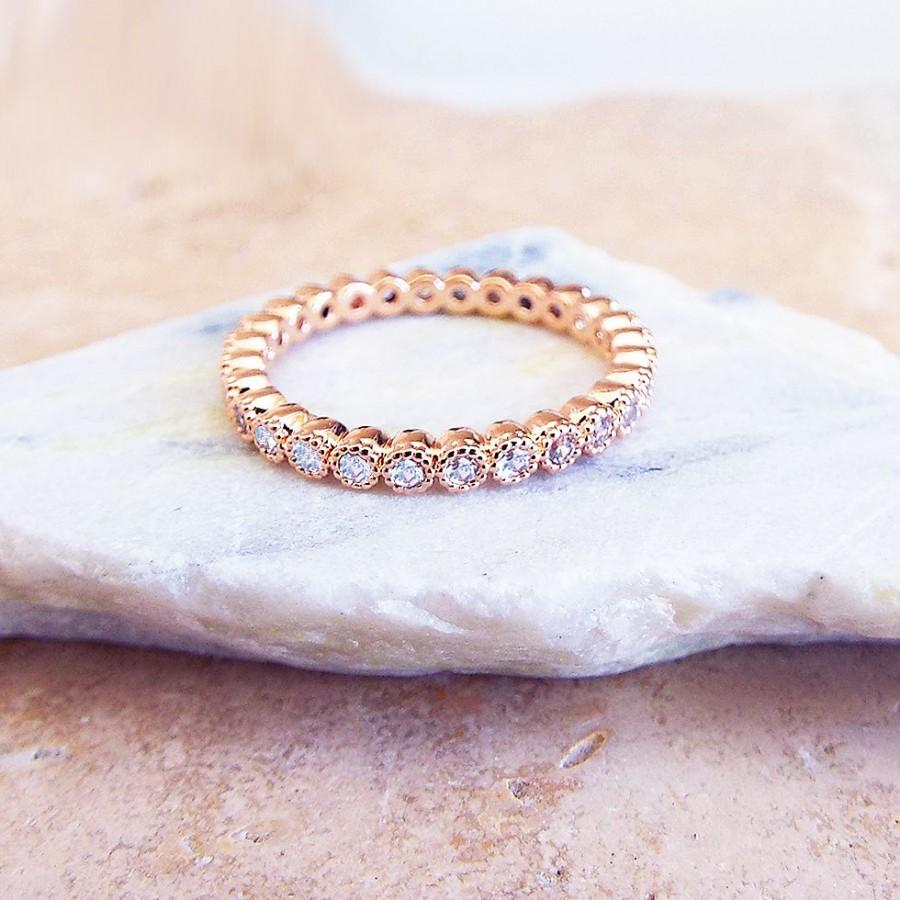 thin of gold bands eternity for yellow diamond wedding unique rose band couples her matching size rings full anniversary