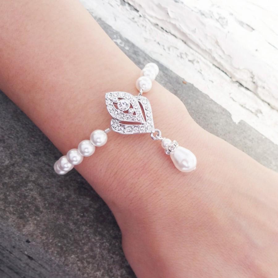 Mariage - Art Deco Bridal Bracelet, Wedding Bracelet, Great Gatsy Inspired Bracelet, Wedding Jewelry, IVANA