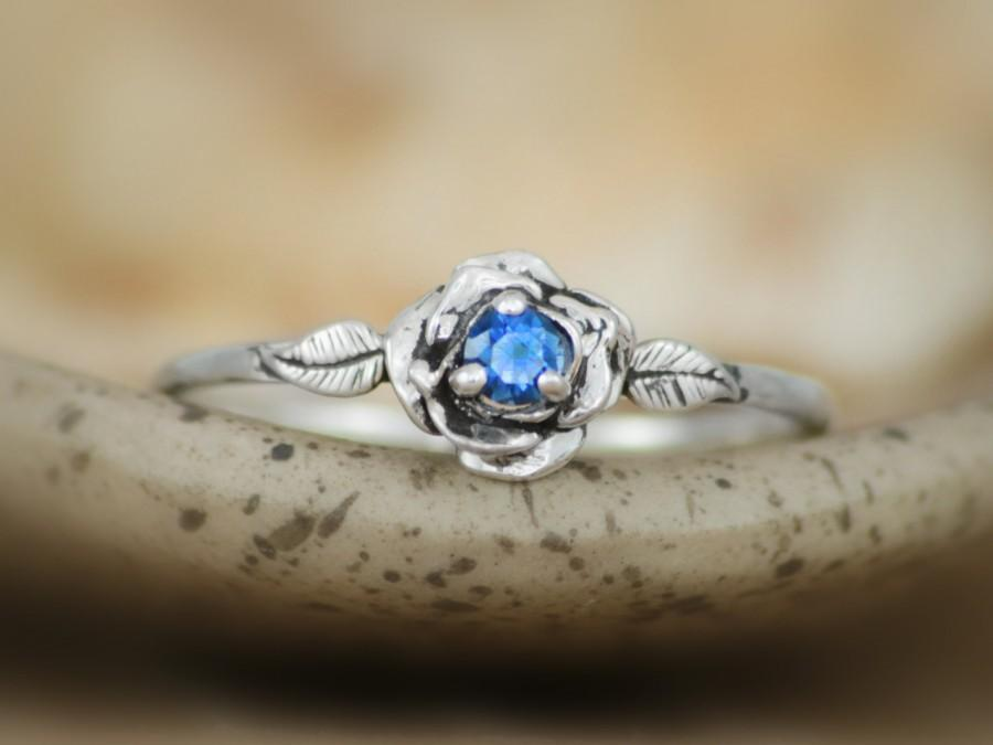 ring com september sapphire blue delicate birthstone star amazon anniversary dp engagement unique rings fine wedding silver