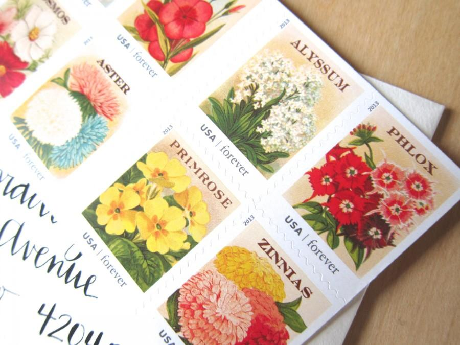 20 Vintage Flower Seed Packet Forever Postage Stamps To Mail 20