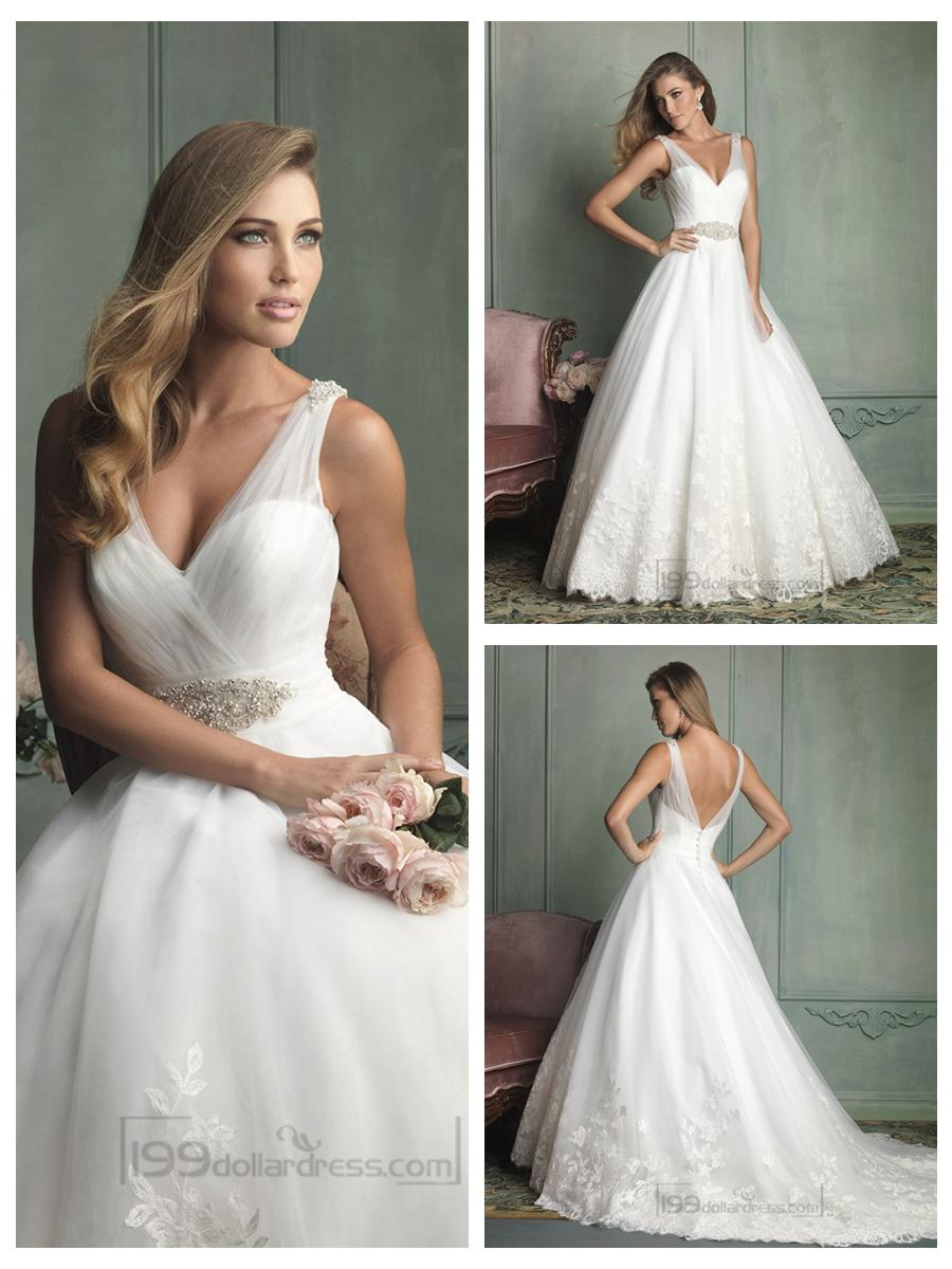 Sheer straps v neck and v back ball gown wedding dresses 2454254 sheer straps v neck and v back ball gown wedding dresses junglespirit Gallery