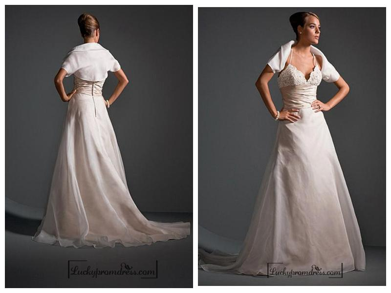 Wedding - Beautiful Elegant Exquisite Wedding Dress In Great Handwork