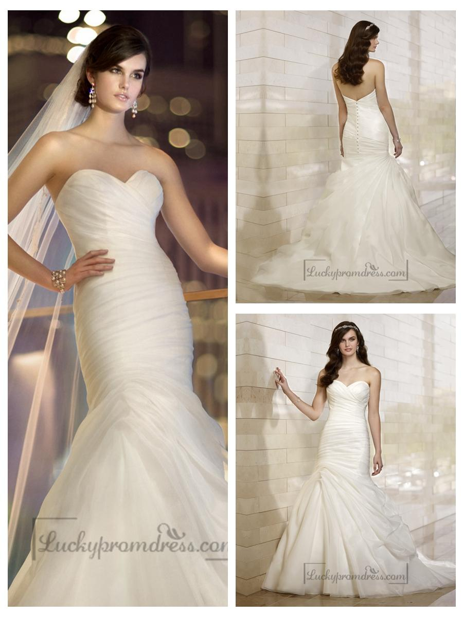 Wedding - Stunning Organza Sweetheart Ruched Bodice Simple Wedding Dresses