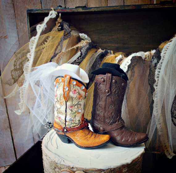 Свадьба - cowboy boots-cowgirl boots-wedding cake topper-western wedding-country western-rustic wedding cake topper-rustic wedding