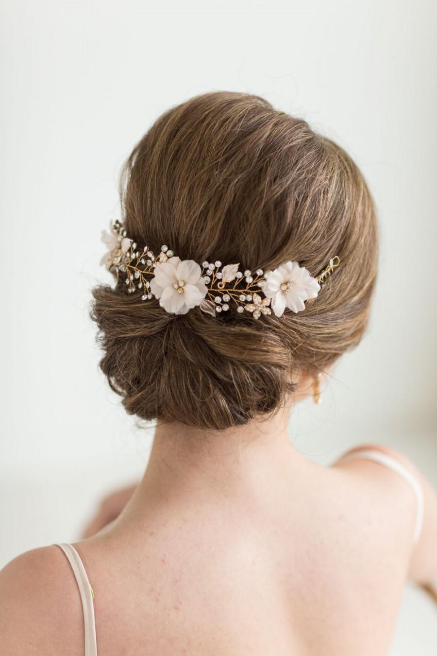 Mariage - Wedding Hair Vine,  Floral Hair Vine, Bridal Hair Accessory