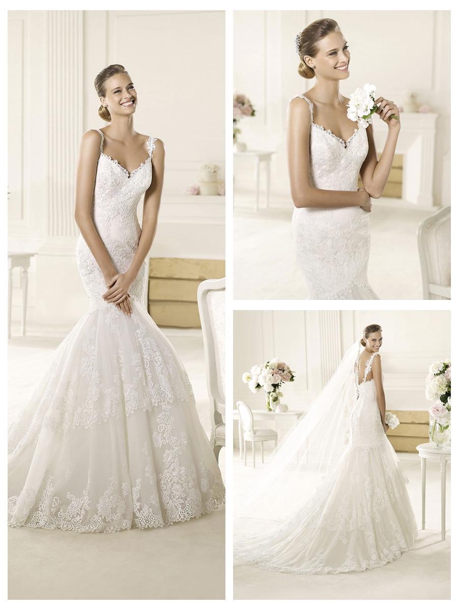 Appliques Lace Halter Sweetheart Mermaid Wedding Dress 2454559 Weddbook
