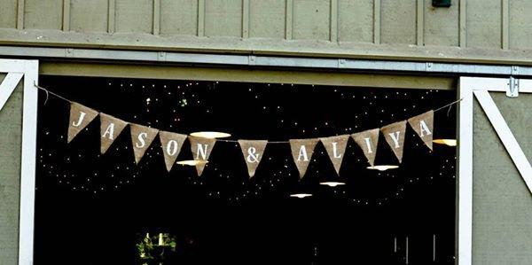 Свадьба - Customized Banner, Wedding Pennant Banner, Wedding Decoration, Bridal Shower, Photo Prop, Anniversary
