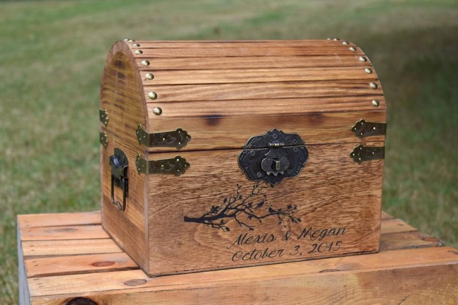 Свадьба - Wedding Card Box - Card Box - Rustic Wedding - Weddings - Rustic Wedding Card Box - Card Boxes - Wooden Wedding Card Box - Love Birds