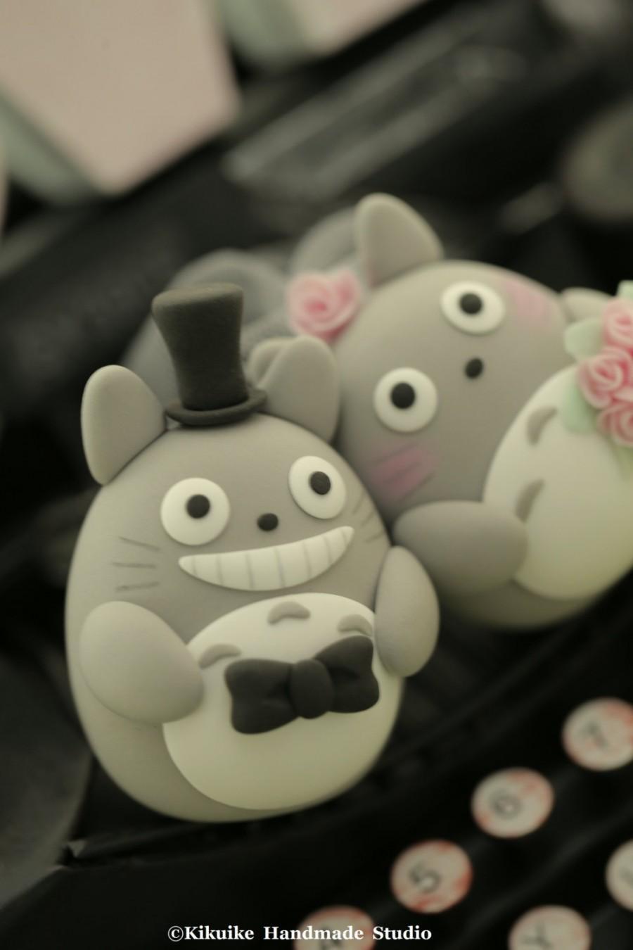 زفاف - totoro cake topper---Custom Order Deposit for the lovely Wedding Cake Topper (K115)