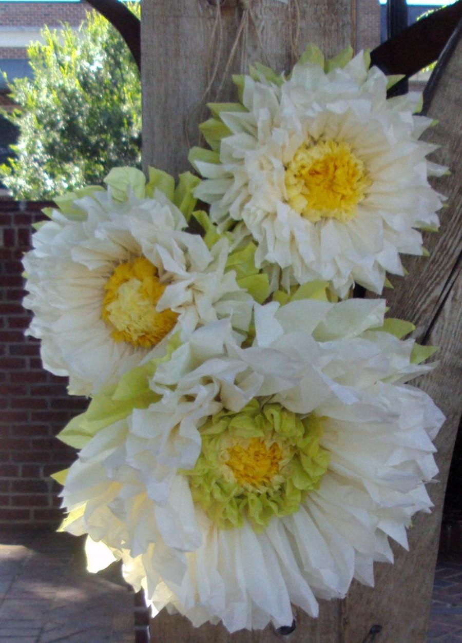 Mariage - Set of 3 Giant Paper Flowers - Perfect Decorations for Wedding,Birthday Party&Baby Shower
