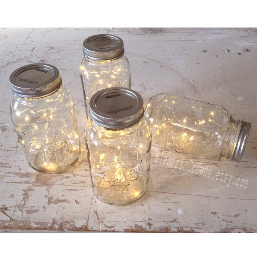 12 Mason Jar Lights Rustic Wedding Decorations Vintage Wedding