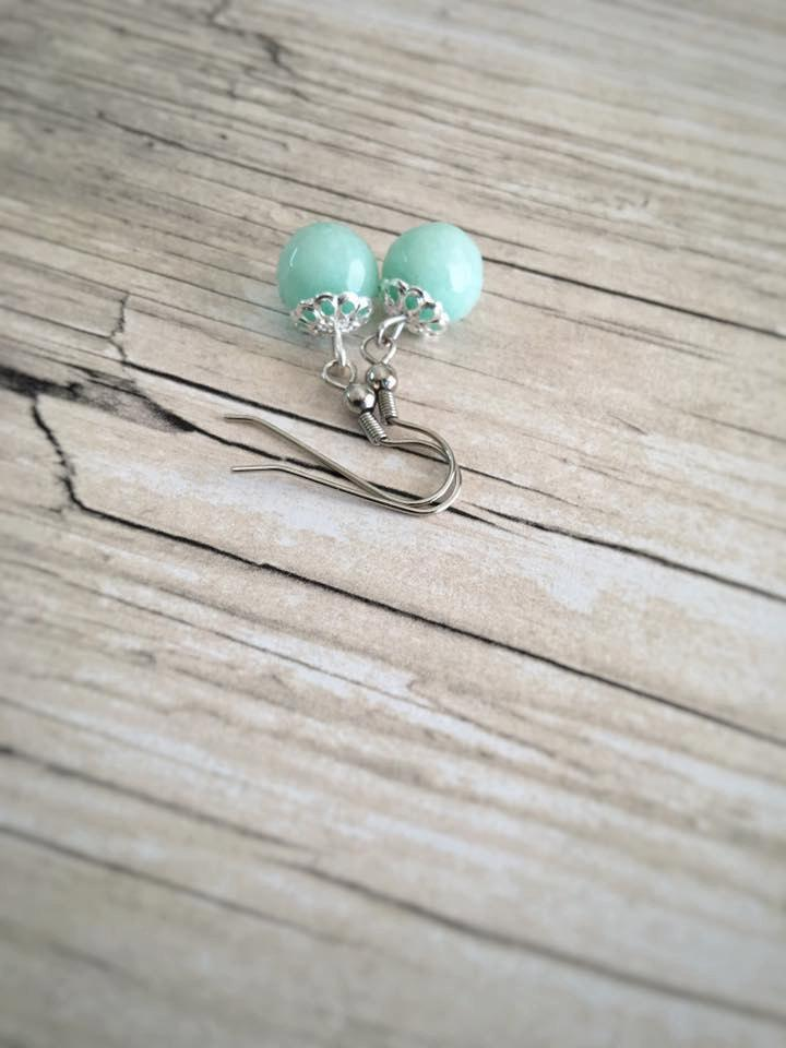 Wedding - Bridesmaid Earrings - Bridesmaid Gift - Bridesmaid Jewelry - Jade Earrings - Colorful Earrings - Gift for Women - Gift for Wife
