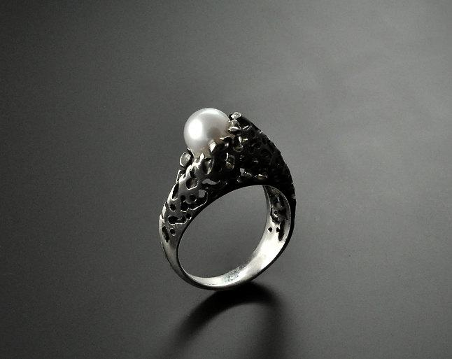"""Mariage - Sterling silver ring """"Pearl"""""""