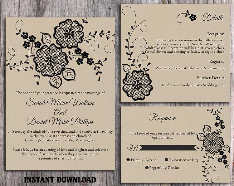 wedding invitation set templates - Akba.greenw.co