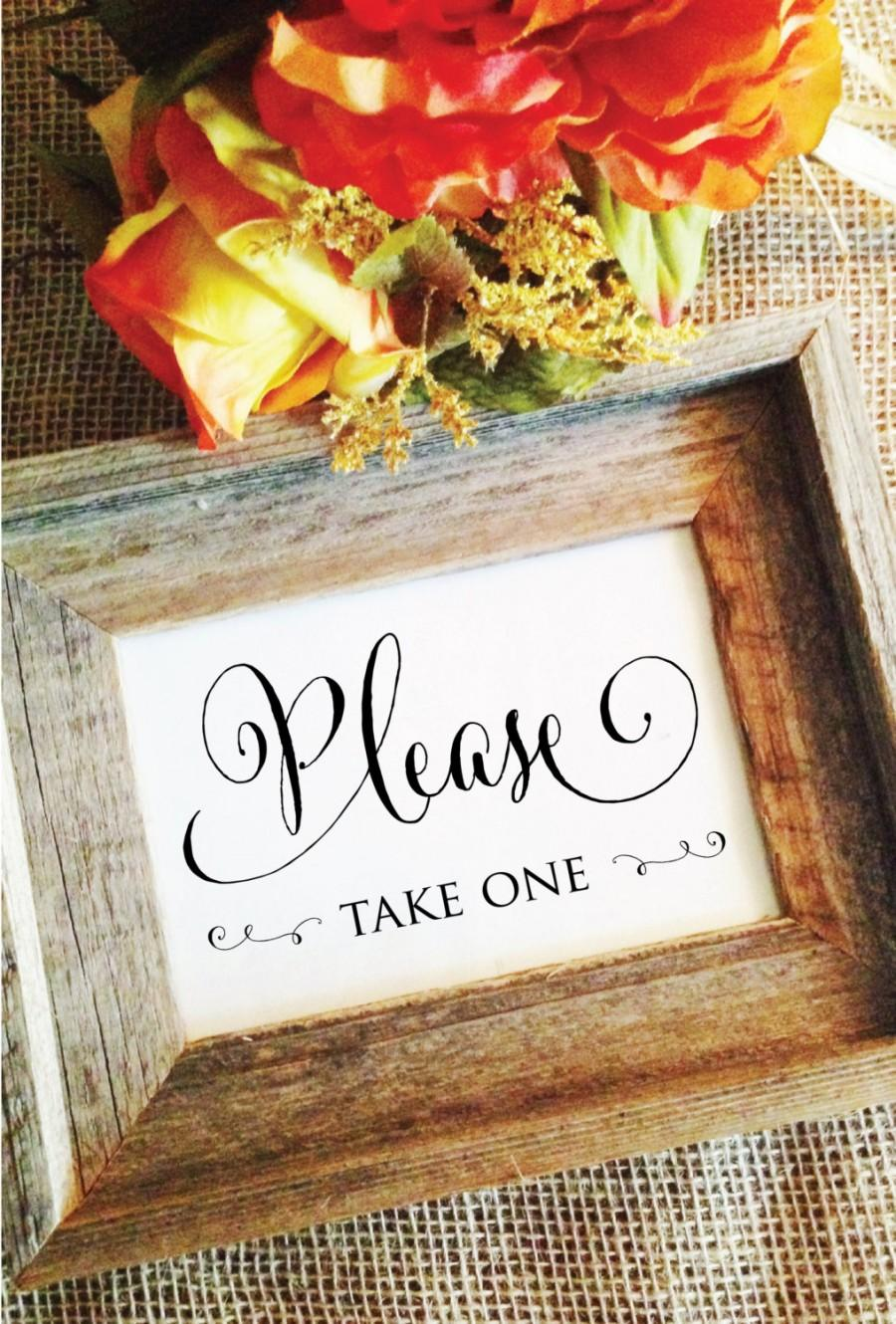 Hochzeit - Please take one sign (Stylish) (Frame NOT included)
