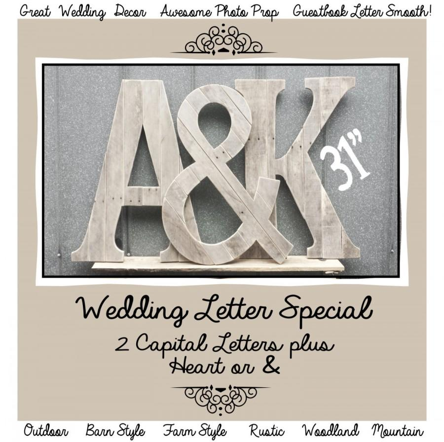 31 Tall Rustic Letters Plus Ampersand Country Chic Guestbook