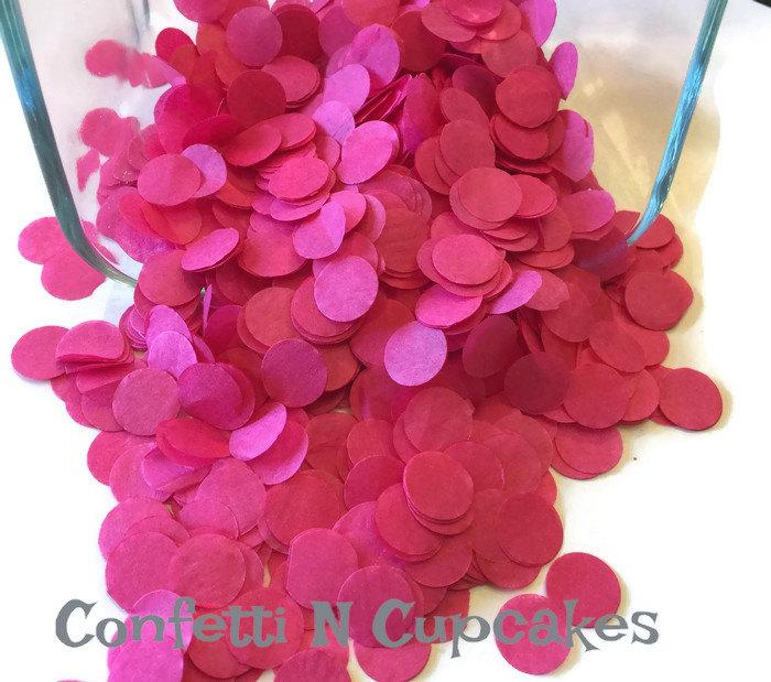 Mariage - Pink wedding confetti, Pink tissue paper confetti, wedding reception, bridal shower, save the date, wedding invitations, envelope confetti