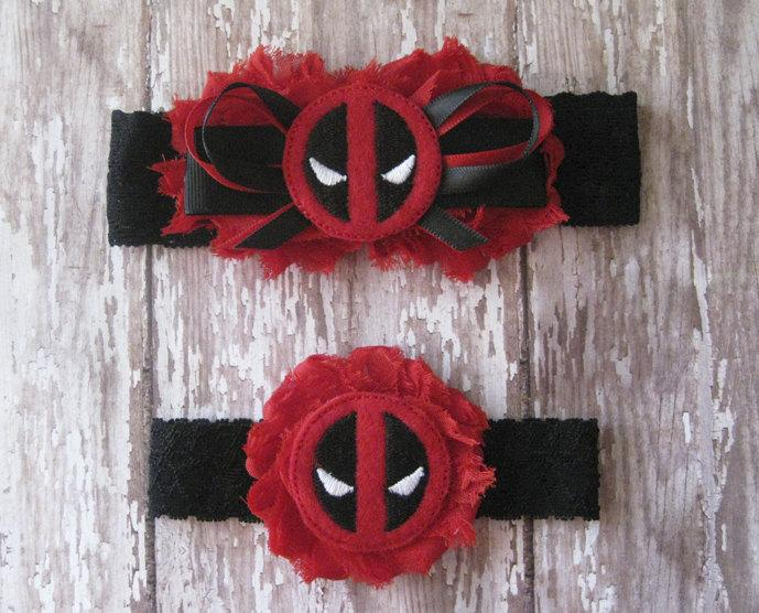 Свадьба - Deadpool Garter Set