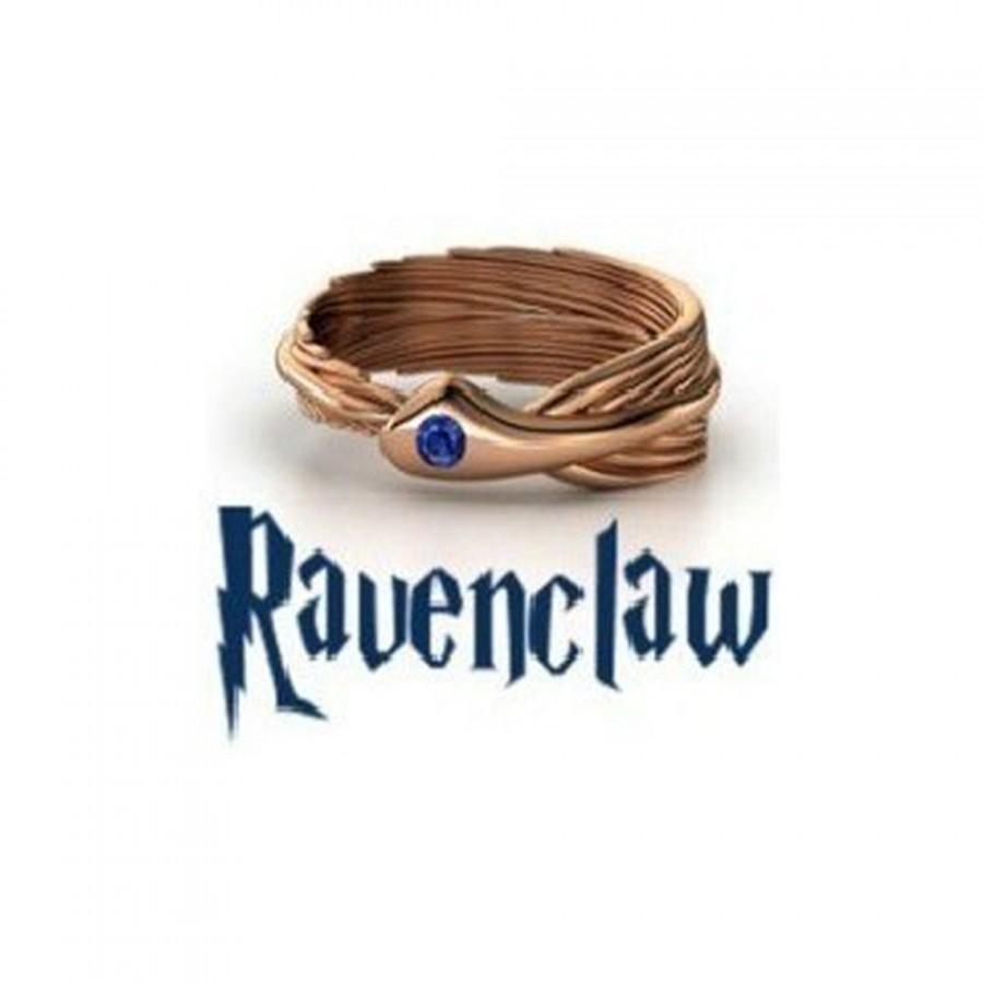 Wedding - Ravenclaw Harry Potter House/School Ring! Slytherin/Gryffindor/Ravenclaw & Hufflepuff!