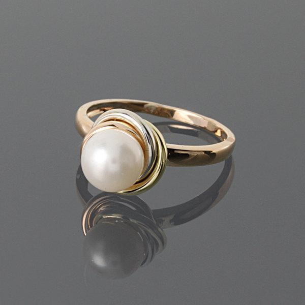 Свадьба - White pearl ring - Pearl ring - Gold pearl ring - Bridesmaid ring - Wedding jewelry - Elegant gold ring