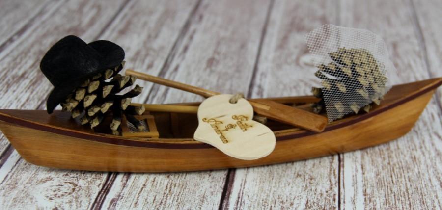 Mariage - Canoe Cake Topper