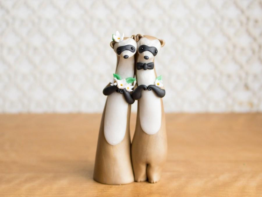 Mariage - Black-Footed Ferret Wedding Cake Topper by Bonjour Poupette