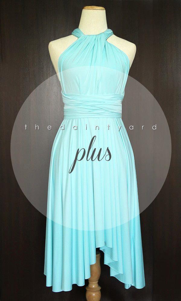 Свадьба - Plus Size Sky Blue Bridesmaid Dress Convertible Dress Infinity Dress Multiway Dress Wrap Dress Wedding Dress Twist Dress Prom Dress Cocktail