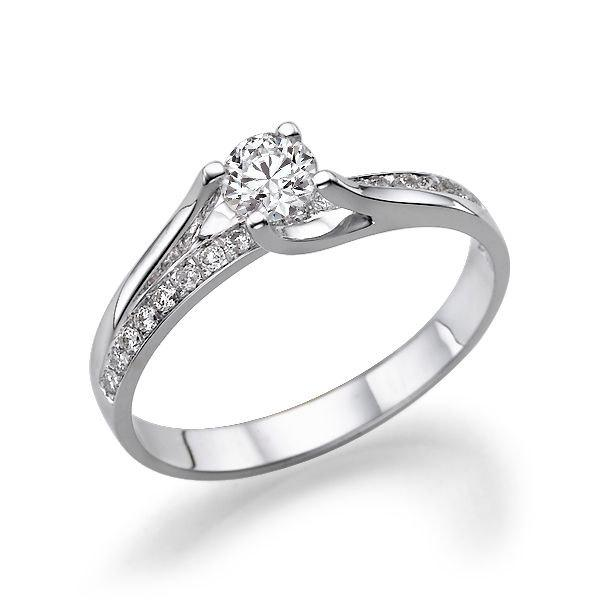 Twist Diamond Engagement Ring 14k White Gold Vintage 0 7 Tcw Band Art Deco