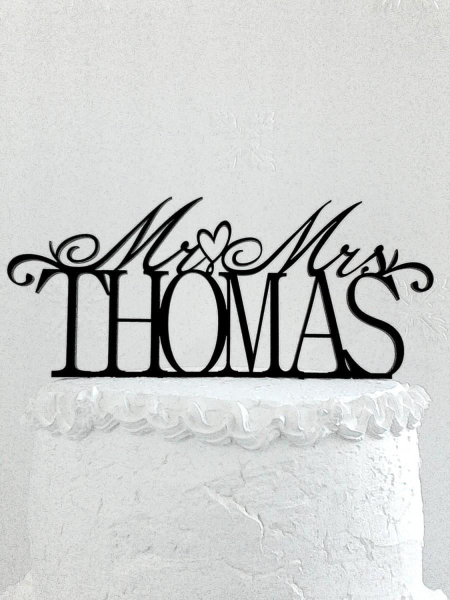 زفاف - Mr and Mrs Thomas Wedding Cake Topper