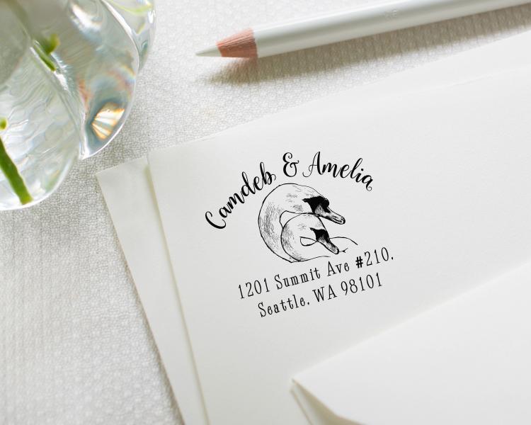 Boda - Custom address stamp  - Wedding stamp